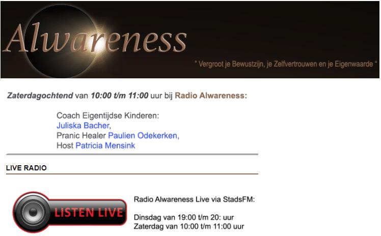 Op Radio Alwareness verteld over hoog sensitieve kinderen