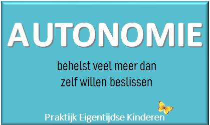 Autonomie en hoogsensitieve kinderen, autonomie en HSP